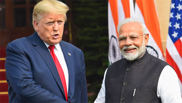 File photo of Donald Trump and Narendra Modi
