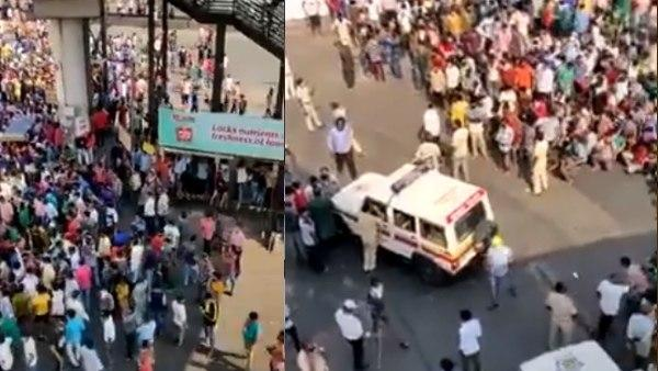 Thousands of migrants defy lockdown in Mumbai's Bandra; lathicharged by police