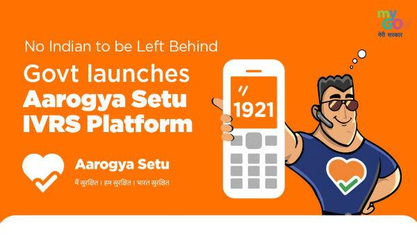 Dial 1921 to access Aarogya Setu if you have a landline or no smart phone