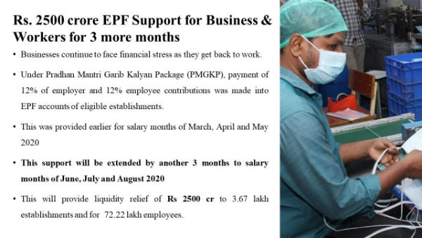 EPF contribution reduced