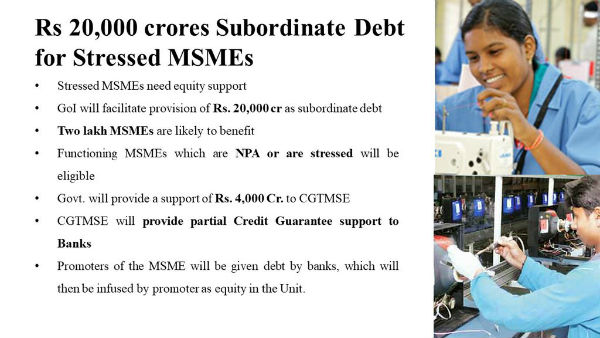 For stressed MSMEs