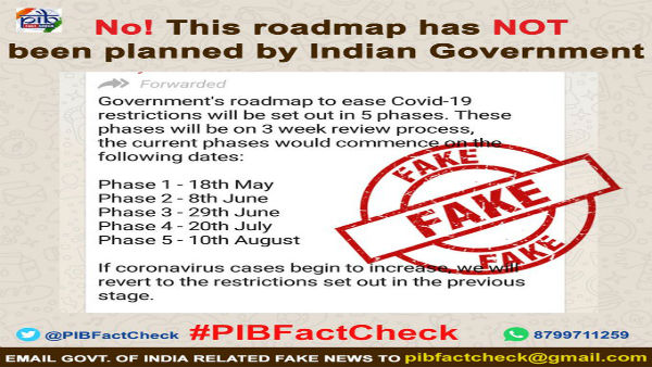 Fake: This is not India's strategy to exit the lockdown