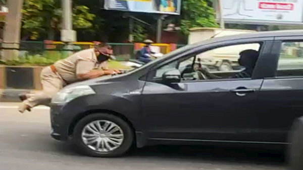 Punjab: Cop dragged on car bonnet in Jalandhar
