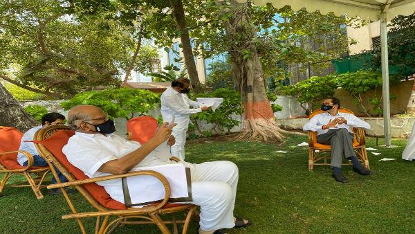 CM Uddhav Thackeray meets Sharad Pawar, Sena says Maharashtra govt strong