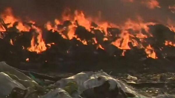 Delhi: Fire breaks out at Tikri-Kalan PVC market, 36 fire tenders rushed to spot