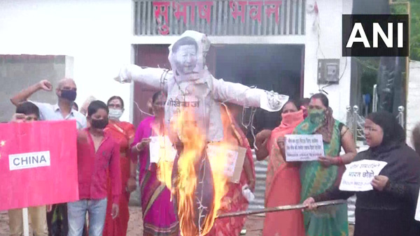 People express anger on road against China after violent skirmishes at Ladakh border