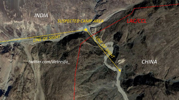 Chinese structures within 1 km of LAC has grown from 3 to 46: See satellite images