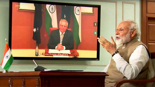 Immense possibilities to strengthen relationship further, PM Modi during visual summit with Morrison