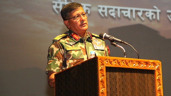 Ahead of voting on new map, Nepal's Army chief inspects border post near Kalapani