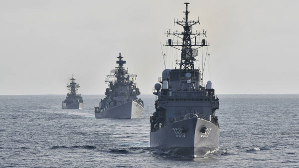 Amidst tensions with China, India conducts drills in Indian Ocean with Japan