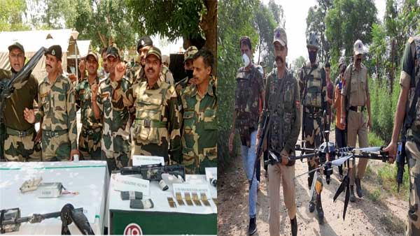 Arms laden drone from Pakistan shot down by BSF