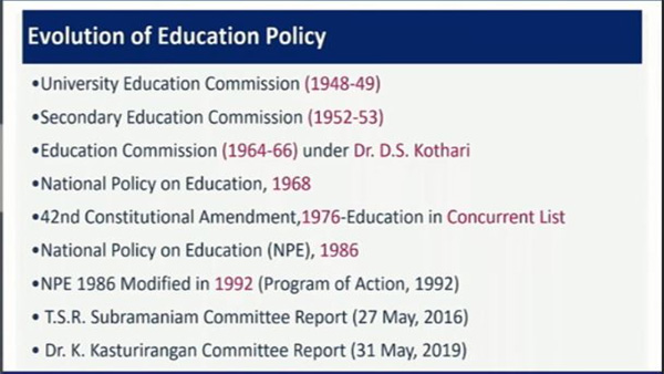 Evolution of Education Policy: