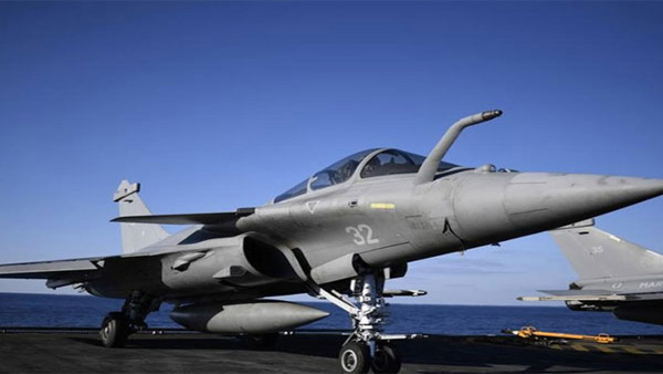 Rafale aircraft gets water cannon salute at induction ceremony in Ambala