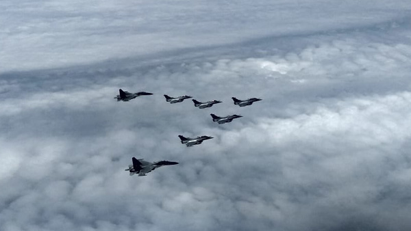Five Rafale aircraft entering Indian airspace