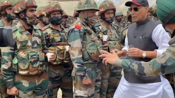 Rajnath Singh meets jawans of 16 Bihar Regiment that gave Chinese a bloody nose