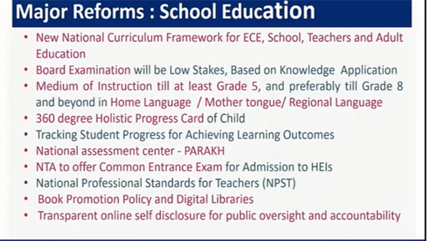 New National Curriculum Framework: