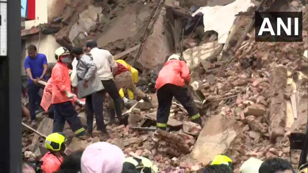 Mumbai: Portion of Bhanushali building at Fort, collapses; search operation underway