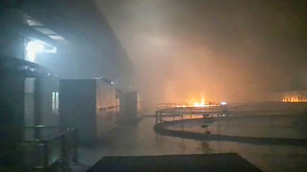 Fire breaks out at Srisailam hydroelectric plant in Telangana; 9 feared trapped