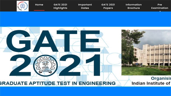 GATE 2021 Admit card date and time