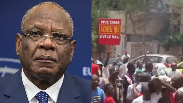 Malis president Ibrahim Boubacar Keita announces resignation on state TV after military mutiny