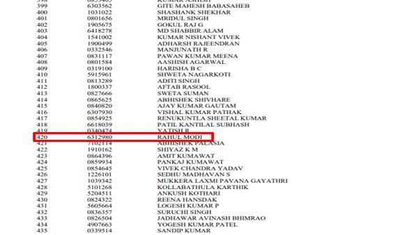 UPSC Civil Services Result 2019: Rahul Modi gets 420 rank