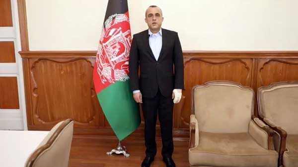 First Vice President Amrullah Saleh suffered minor burns in the attack.