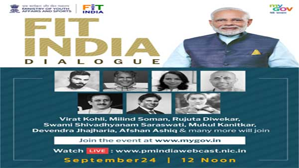 Fit India Movement: PM Modi to interact with Kohli, Milind Soman among others
