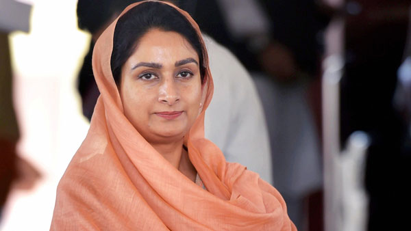 President Kovind accepts resignation of Harsimrat Kaur Badal