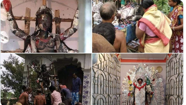 Fact check: Who desecrated this Kali idol in Bengal Temple?