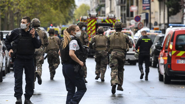 4 injured in Paris knife attack close to former Charlie Hebdo offices