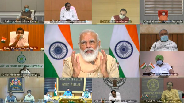 PM Modi to chair meet with CM's of states with high COVID-19 load