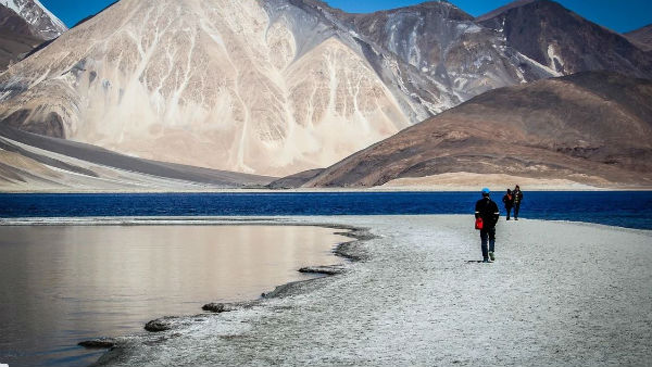 India now dominates the south area of Pangong Tso