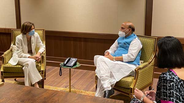 To further boost defence bi-lateral cooperation, Rajnath holds conversation with Parly