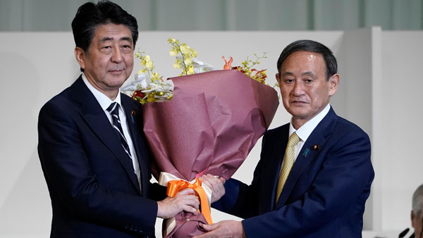 Yoshihide Suga elected leader of Japans ruling party, headed for premiership