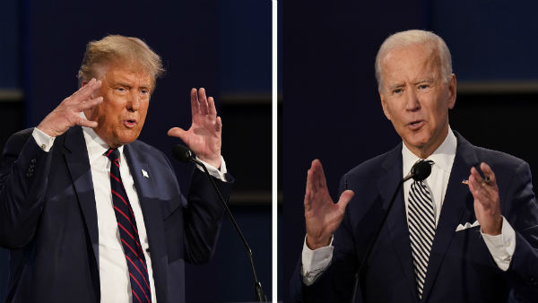 US Election:Trump and Biden hold separate town halls in lieu of cancelled second presidential debate