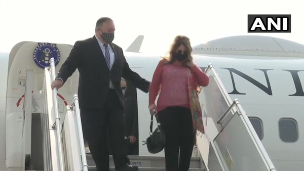 India-US 2+2 dialogue: Pompeo and his wife Susan arrive in Delhi