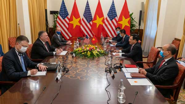 Pompeo's anti-China tour of China wrapped up in Vietnam
