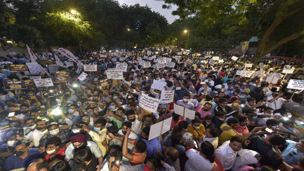 Jantar Mantar buzzes with activity as protesters gather to seek justice for Hathras gang-rape victim