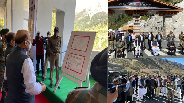 Rajnath reaches Himachal to review Atal Tunnel's inaugural program