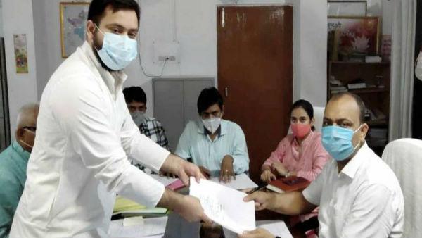Bihar Elections 2020: Tejashwi Yadav files nomination from Raghopur assembly seat