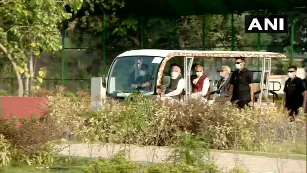 Narendra Modi takes tour of Sardar Patel Zoological Park in Kevadia after inaugurating it