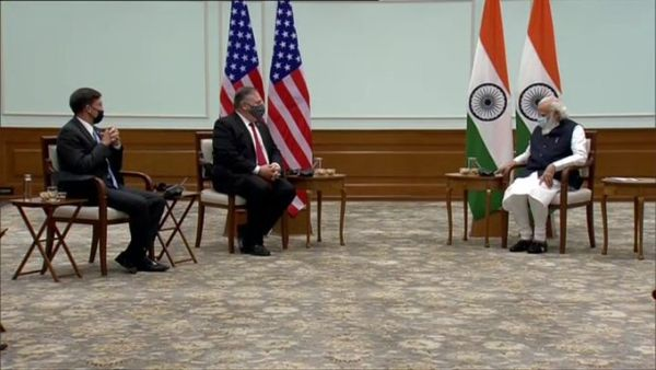 Secy of State Pompeo, Defence Secy Esper call on PM Modi