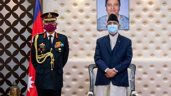 Dialogue route will be taken to resolve issues: K P Oli tells India's Army Chief