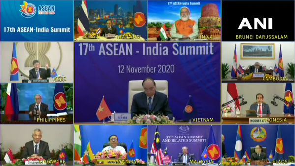 PM Modi, along with his Vietnamese counterpart Nguyen Xuan Phuc co-chairs 17th ASEAN-India Summit