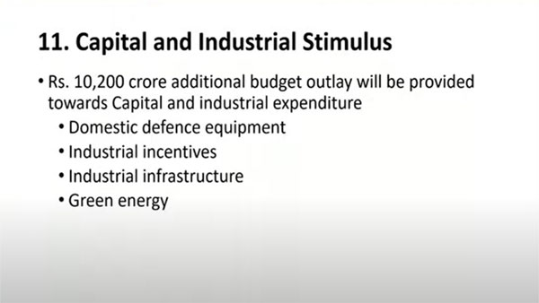 Capital and industrial stimulus: