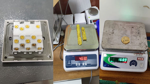 Rs 18 lakh worth gold hidden as screws of power banks, switches seized at Kerala airport