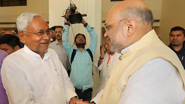 Shah dials Nitish as results in Bihar continue to trickle in