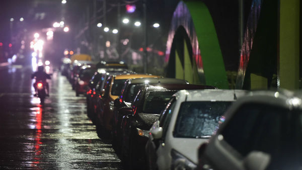 Amid cyclone Nivar Chennai residents park cars on flyover