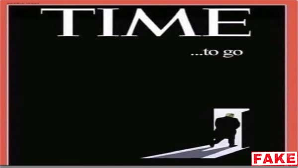 Fake: Time magazine didn't publish story that it was time for Trump to go