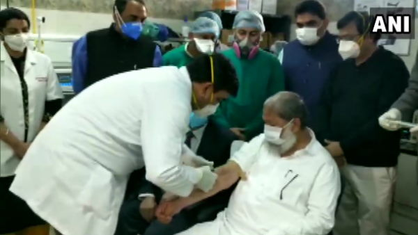Haryana health minister Anil Vij gets trial dose of India-made Covid vaccine 'Covaxin'